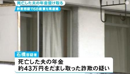 愛知県岡崎市で死亡した夫の年金詐欺で再逮捕1.jpg